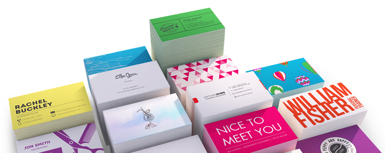 A promotional, creative graphic printed business cards that can used for promoting a business or service.